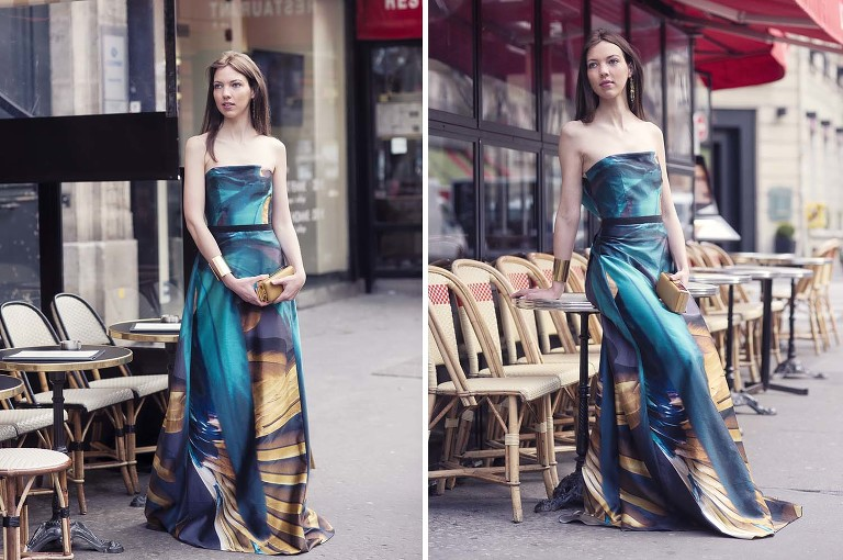 Paris evening dress rental
