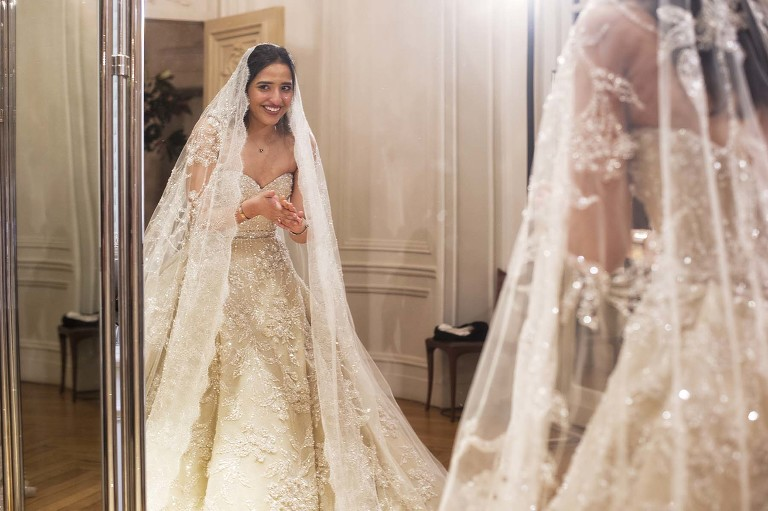 Paris couture wedding dress
