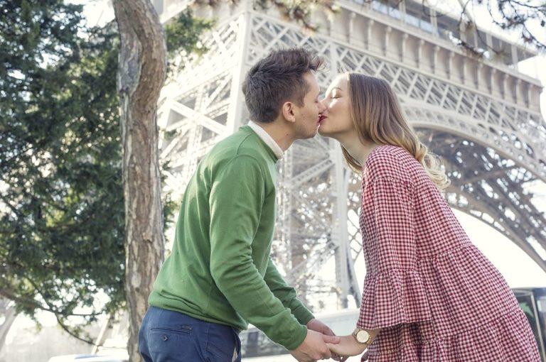 Paris Professional Photography Couple Eiffel Tower Engagement